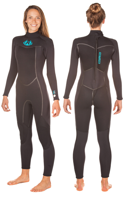 Womens 4/3mm Backzip Wetsuit