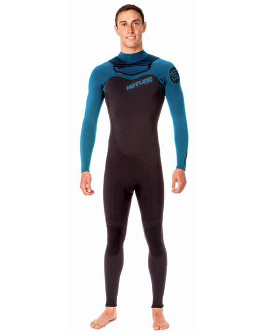 Mens Reflex 2.0 3mm Wetsuit -  Black / Marina Blue