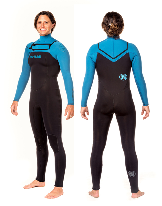 Womens Reflex 2.0   4/3mm Wetsuit - Black / Marina Blue