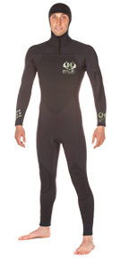 Mens UHC 5/4mm Hooded Wetsuit Ultra Hot Combo