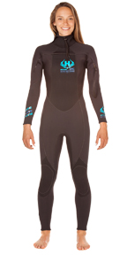 Womens UHC 5/4mm Hooded Wetsuit Ultra Hot Combo