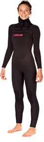 Womens  Reflex 2.0  5/4mm Hooded Wetsuit  - Black
