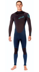 Mens Reflex 1.0 All 4/3mm Wetsuit -  Iodine Blue / Black